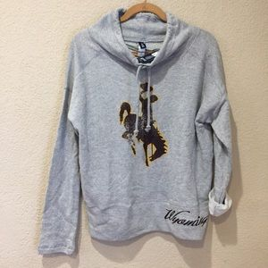 Tops - University of Wyoming cowboys women's NWT sweatshi